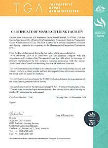 сертификат GMP на laminine США