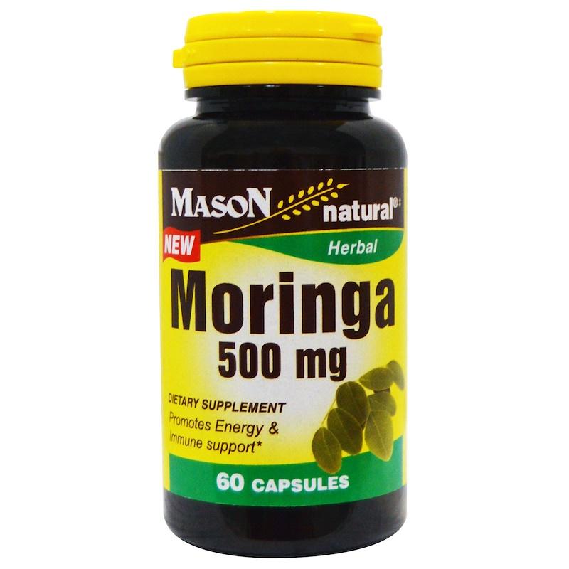 Mason Natural, Моринга, 500 мг, 60 капсул