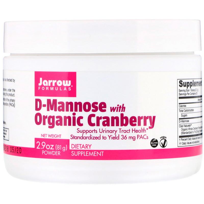 Jarrow Formulas, D-манноза с органической клюквой
